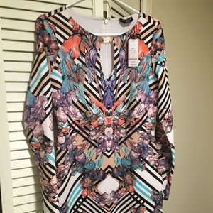 Bebe floral dress, size L